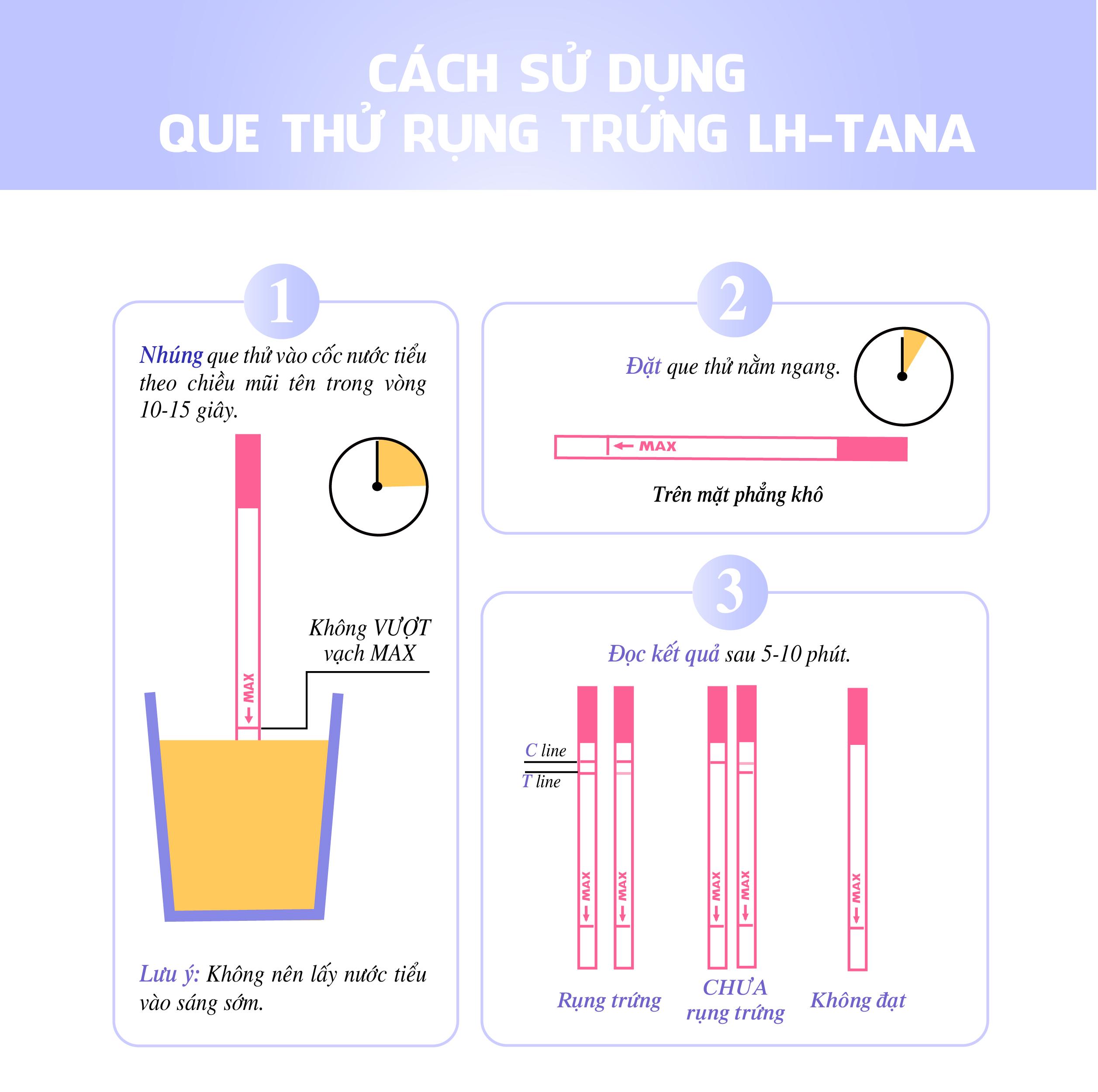 LH Tana - Que thử rụng trứng phổ biến