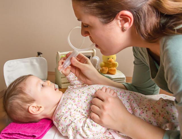 Many mothers worry that frequent baby's nose suction is okay